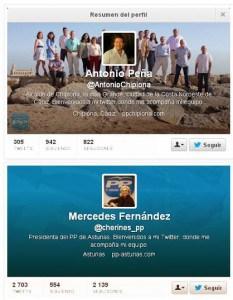 Cuentas oficiales de algunos políticos españoles