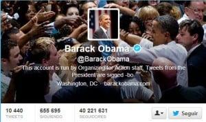 Perfil oficial de Barak Obama y sus seguidores