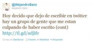 Twitter oficial de Alejandro Sanz