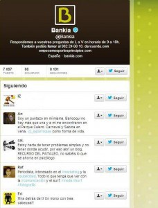 Twitter oficial de Bankia Social Media Marketing