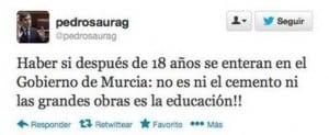 Pedro Saura y su falta de ortografía en Twitter