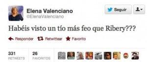 Elena Valenciano Twitter y Ribery