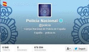 Twitter Policía Social Media Redes Sociales