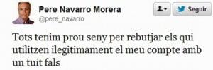 Twitter Pere Navarro