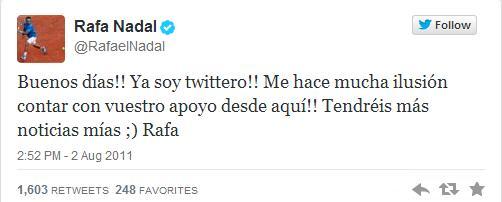Los primeros tuits de las cuentas españolas más populares