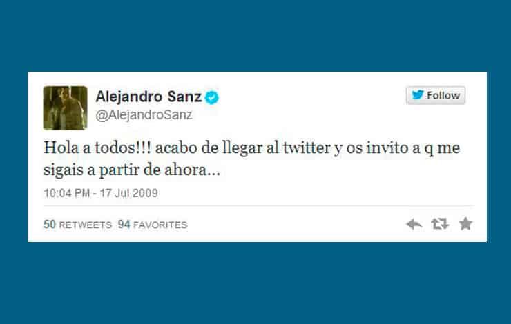 imagen de Los primeros tuits de las cuentas españolas más populares