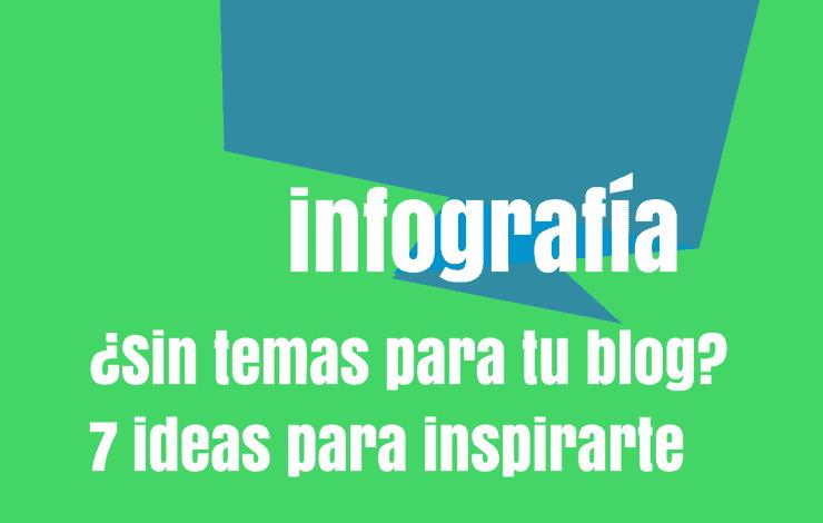 Infografía temas blog