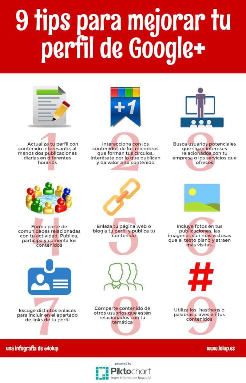 tips google+ infografia