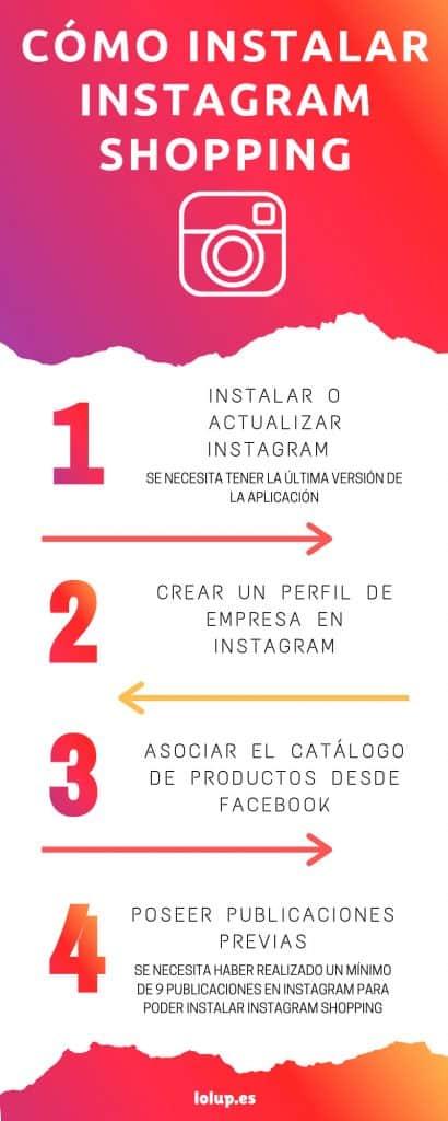 infografía marketing online vender en instagram