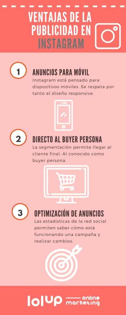 Infografía sobre la publicidad en Instagram